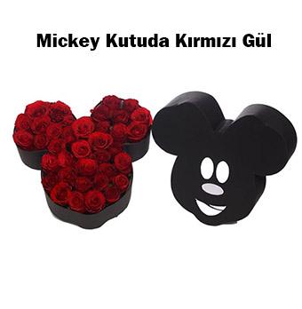 Mickey Kutuda Kırmızı Gül